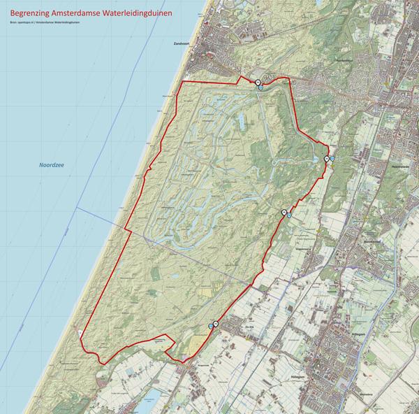 Begrenzing kaart NK Natuurfotografie