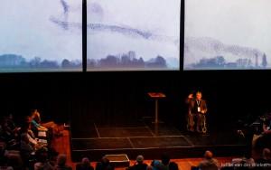 Jan: vult niet alleen alle schermen met indrukwekkende beelden maar de hele zaal met inspiratie!