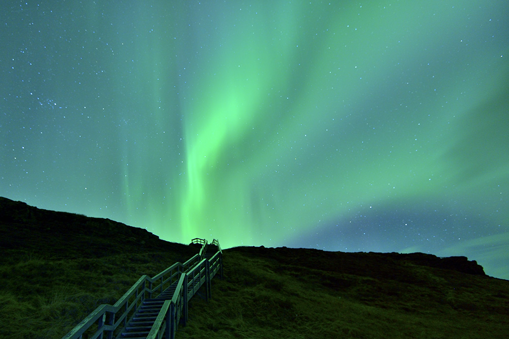 Stairway to heaven, Noorderlicht op IJsland