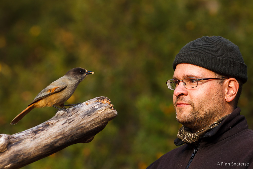 Johan oog in oog met zijn onderwerp... lange telelens niet nodig :-)