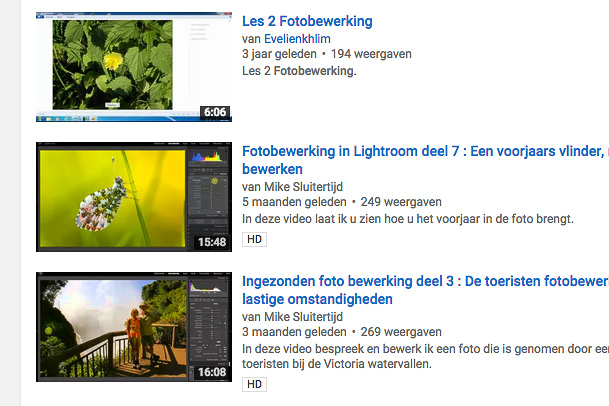 You Tube fotobewerking