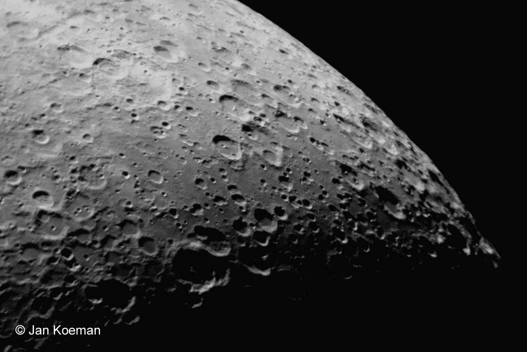 Zuidpoolgebied van de maan