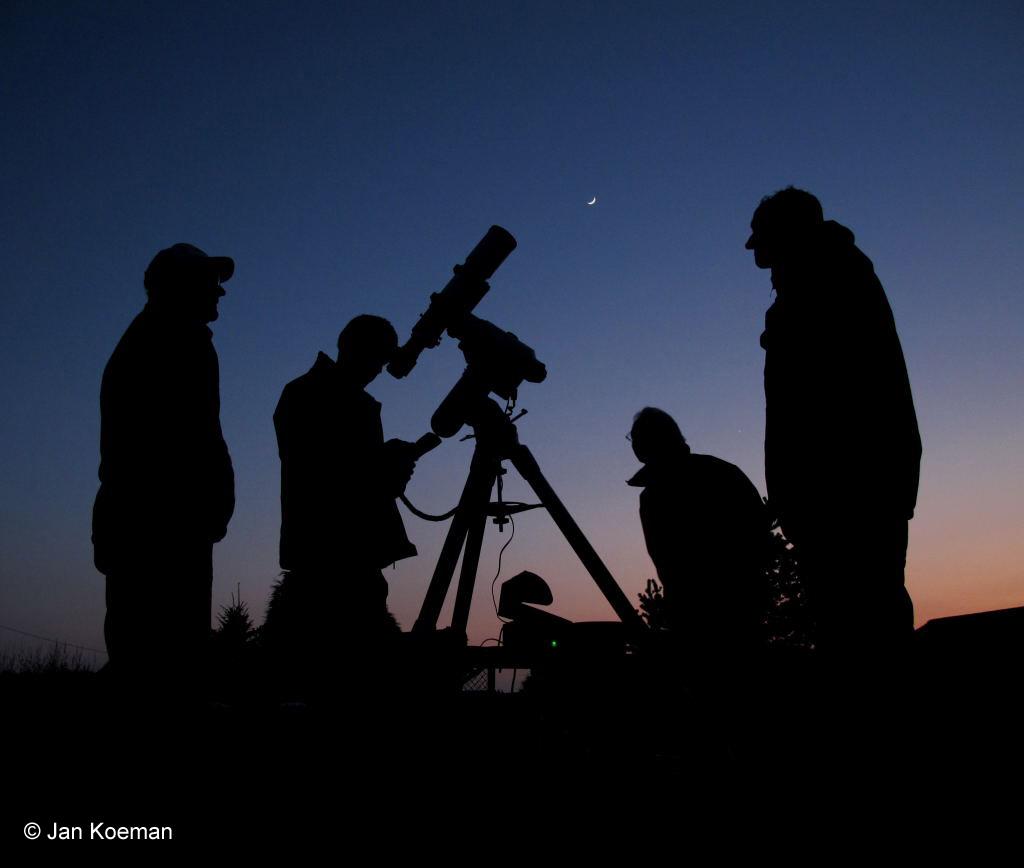 Kijken naar de maan met Stichting Volkssterrenwacht Philippus Lansbergen in Middelburg