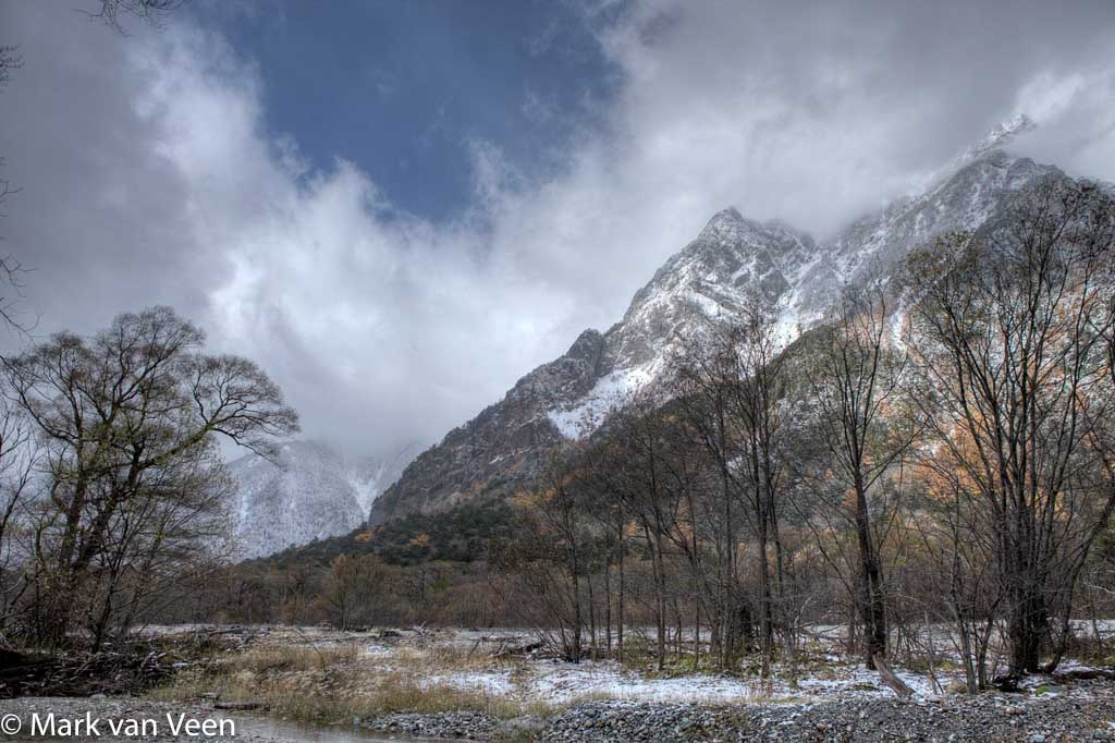 De uiteindelijke HDR-opname van de Japanse Alpen.