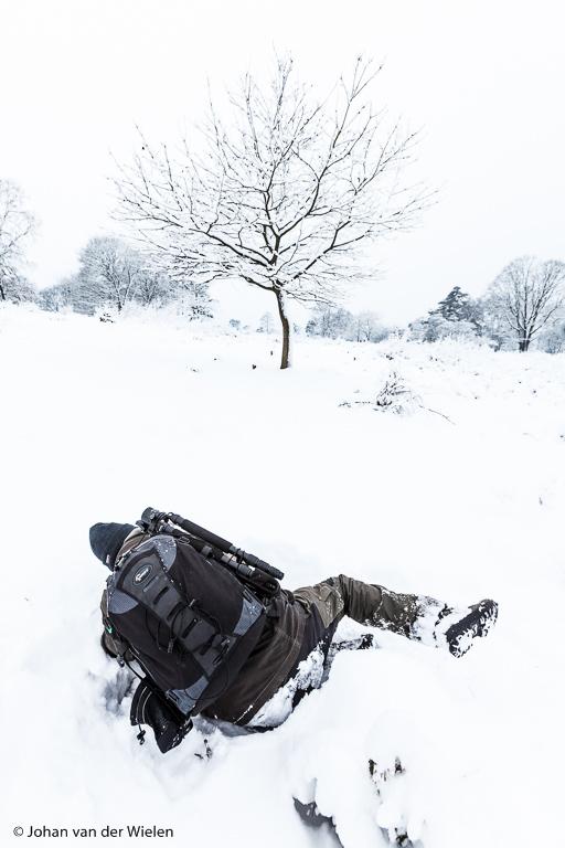 Sneeuw! Van dat witte zeldzame spul val je als fotograaf toch steil achterover....