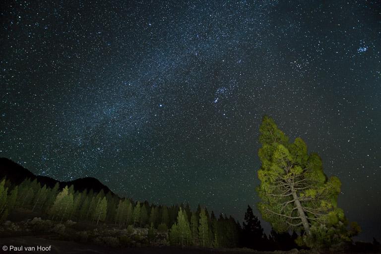 Melkweg met landschap, Nikon 14-24mm f/2.8 op 14mm, full frame