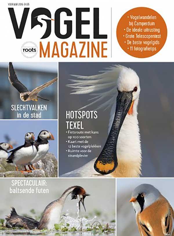 Cover van het eerste nummer van Vogelmagazine.
