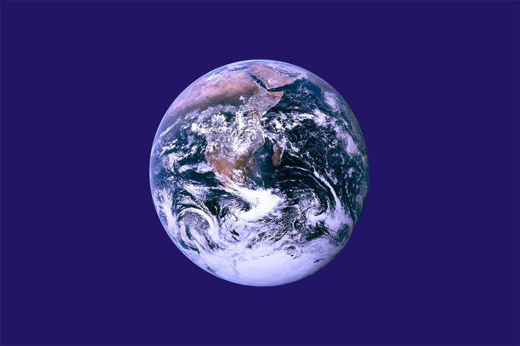 De onofficiële Dag van de Aarde-vlag.
