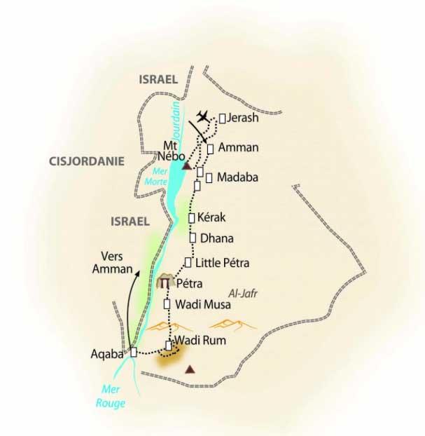 Reis door Jordanië.