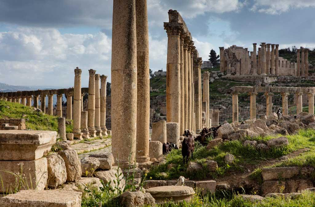 Tempel in Jerash.