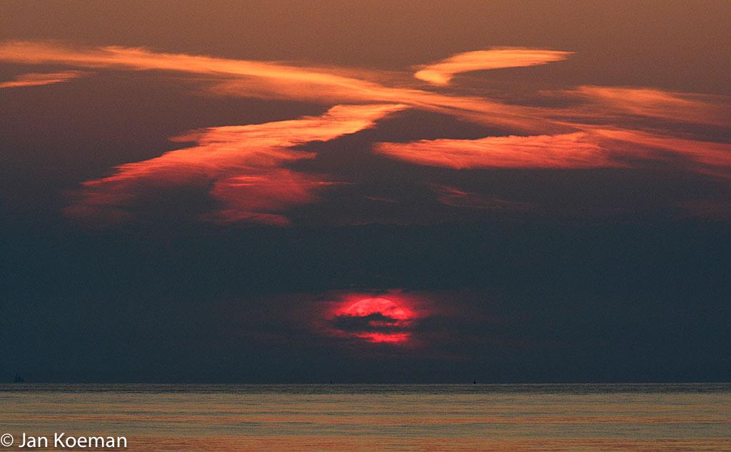 Domburgse zonsondergang