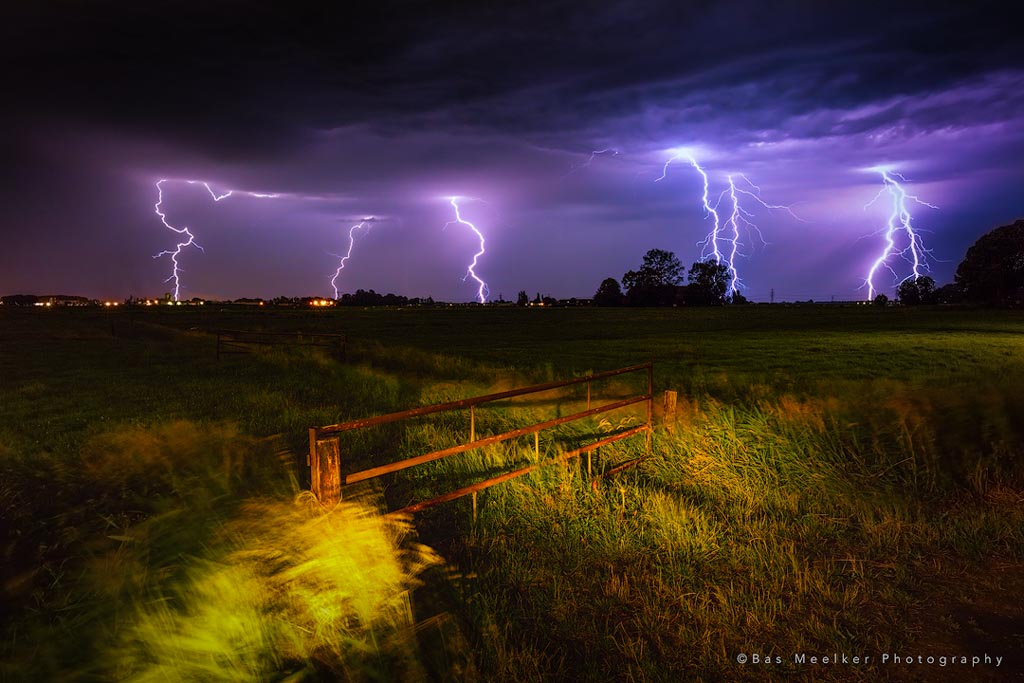When lightning strikes - Leegkerk, The Netherlands
