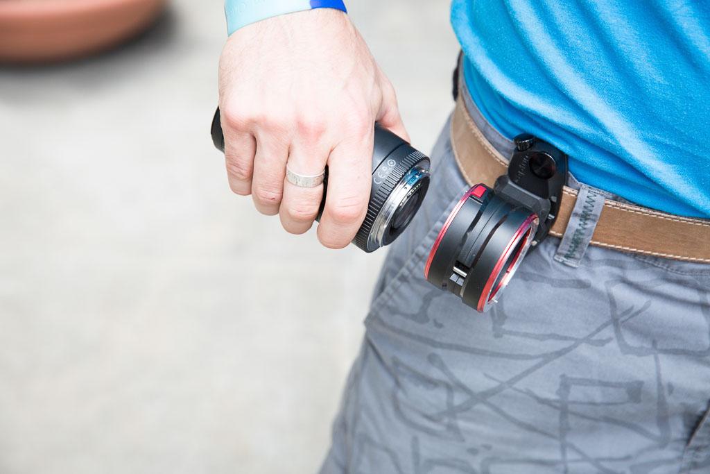 Er is een CaptureLENS voor Canon, Nikon F of Sony E/FE vatting.