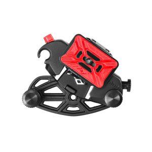 De CapturePro camera clip kan direct op een statief of monopod worden gemonteerd en dan gebruikt worden als een quick release aansluiting.