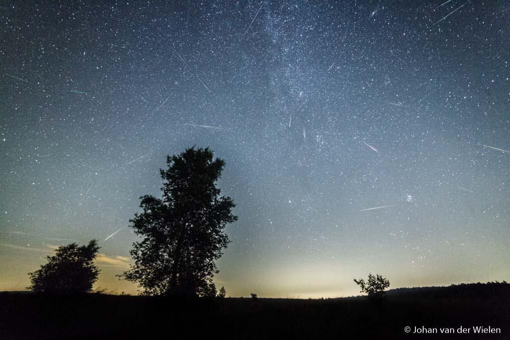 Meteorenregen van de Perseïden...