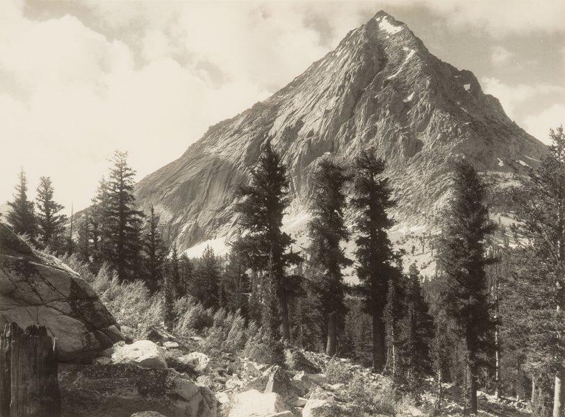 East Vidette, Southern Sierra, één van de werken van Ansel Adams die onder de hamer gaat.