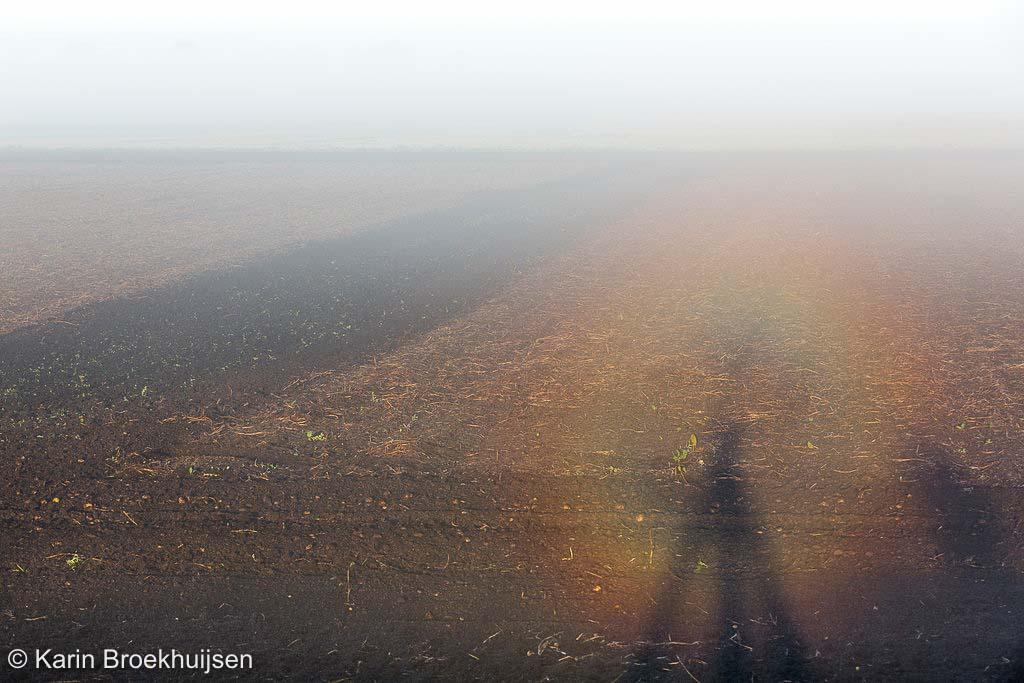 Het gebeurt maar heel zelden dat je de glorie niet vanuit een vliegtuig of ballon ziet maar gewoon op de grond staand.