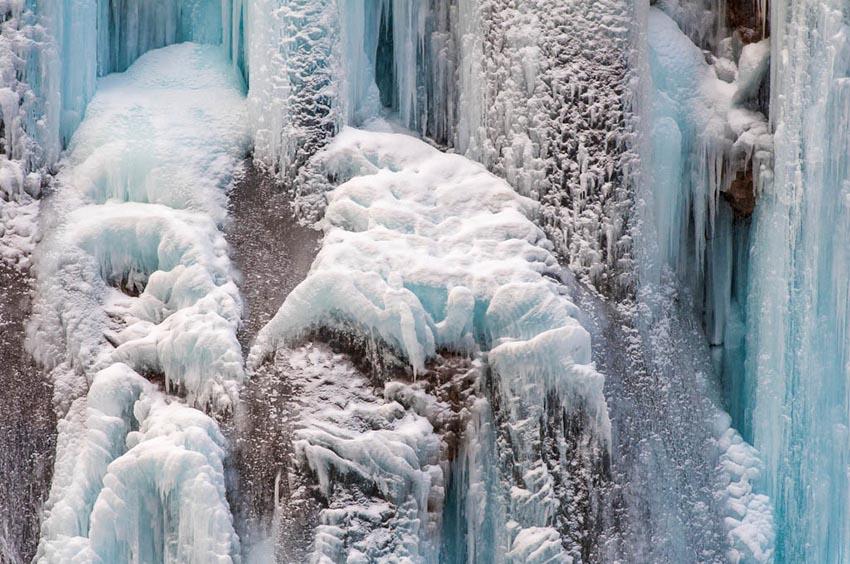 Bevroren waterval China